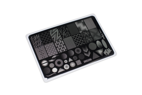 LESLY Пластина для стемпинга Dots 1 (8*12 см)