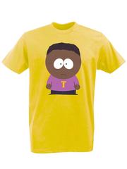 Футболка с принтом мультфильма Южный парк (South Park) желтая 009