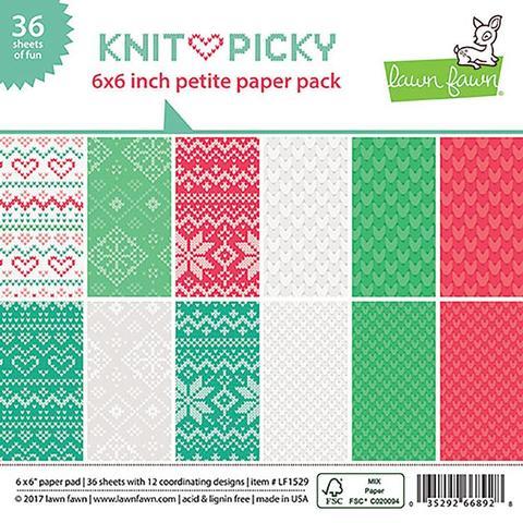 Набор односторонней бумаги - Lawn Fawn Knit Picky Christmas- 15х15см/36л