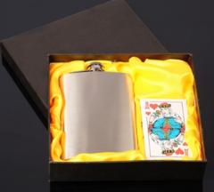 Подарочный набор 2-в-1 с фляжкой и картами, фото 1