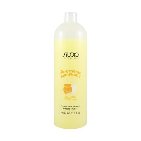 Шампунь для всех типов волос Молоко и Мед 1000 мл. Kapous Studio