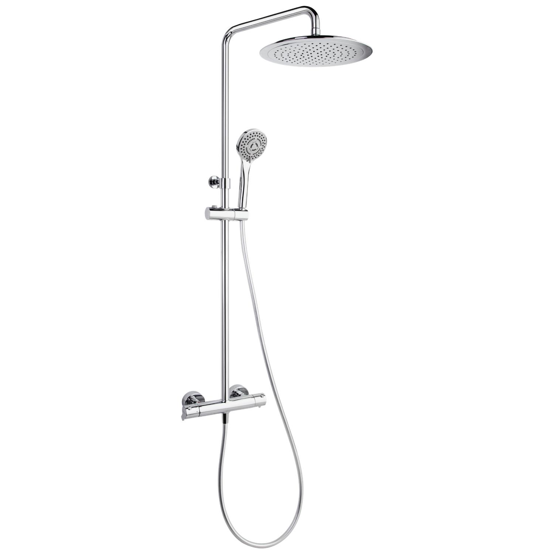 Душевая система с термостатом и тропическим душем для ванны BLAUTHERM 944801RP300