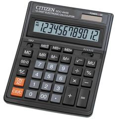 Калькулятор настольный ПОЛНОРАЗМЕРНЫЙ Citizen SDC-444S 12-разрядный черный
