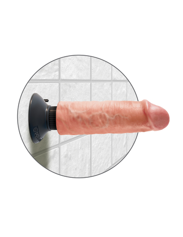 Вибромассажер реалистик 3 в1 на присоске 6 Vibrating Cock