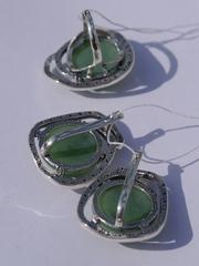 Адара (кольцо + серьги из серебра)