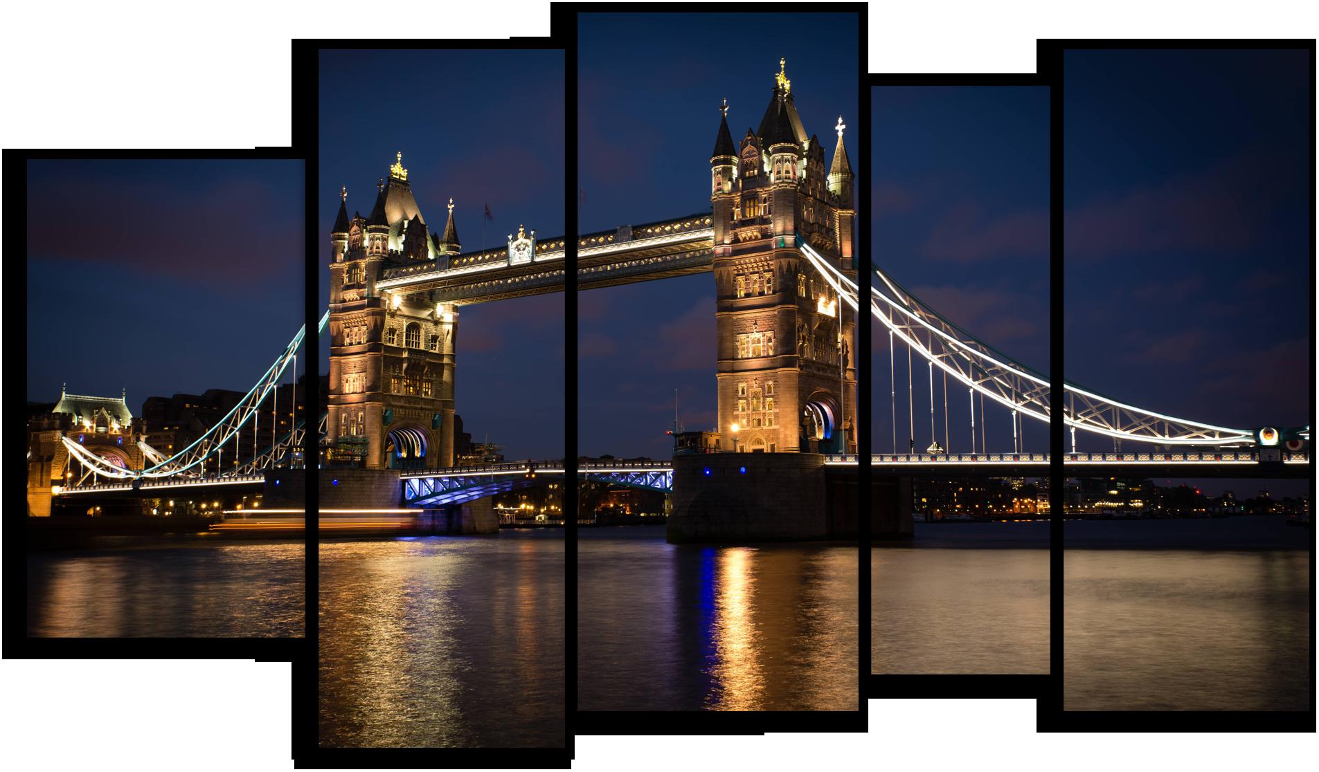"""Города Модульная картина """"Мост в Лондоне"""" М885.png"""