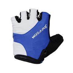 Велоперчатки JAFFSON SCG 46-0385 (чёрный/белый/синий)