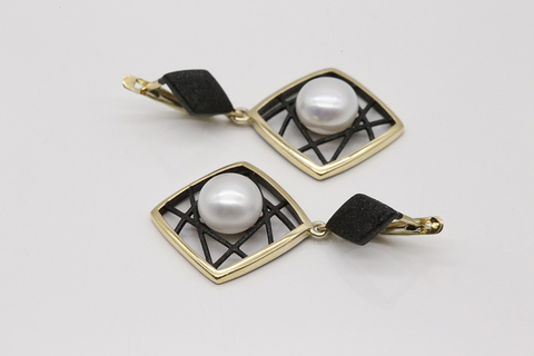 Серьги с жемчугом в серебре 52843Y1B
