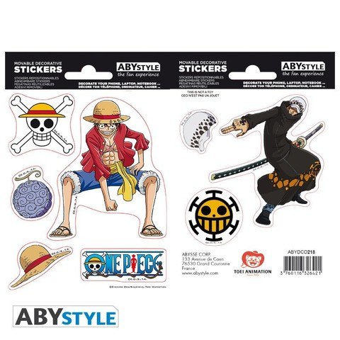 Наклейки ABYstyle: ONE PIECE: Luffy & Law ABYDCO445
