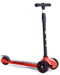 Трехколесный самокат для детей и подростков, материал - металл/пластик BIBITU STRONG SKL-010, красный