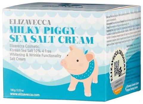 Elizavecca Крем для лица  Milky Piggy Sea Salt Cream, 100мл