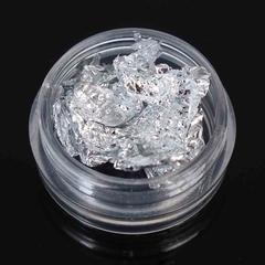 Фольга для дизайна ногтей в банке (серебро)