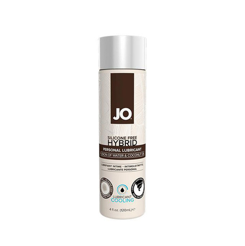 JO SILIKONE-FREE HYBRID LUBRICANT COCONUT COOLING, 120 ml Лубрикант- ГИБРИД водно-кокосовый с охлаждающим эффектом