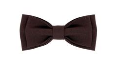 Однотонный галстук - бабочка (темно-коричневый)