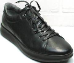 Стильные кроссовки кеды мужские черные весна осень Ikoc 1725-1 Black.