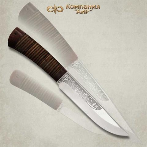 Нож Шашлычный средний, кожа, 100х13м