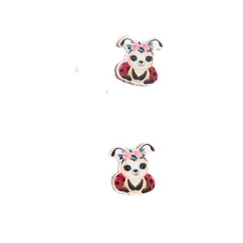 Божья коровка 2,7*3,2см  арт250803  (в упаковке 2 шт)