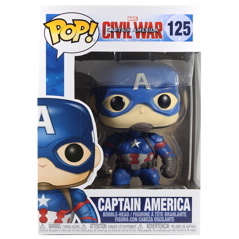 Фигурка Funko POP! Bobble: Marvel: Civil War: Captain America 7223