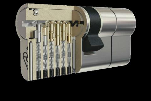 Цилиндр (личина, вкладыш) Apecs N6-70-S/15 NI Британия