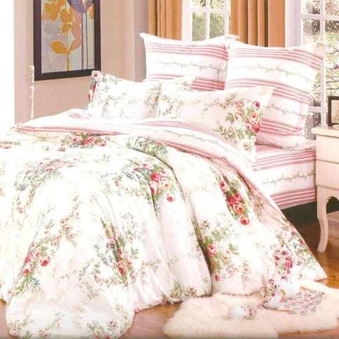 Сатиновое постельное бельё  2 спальное  В-120