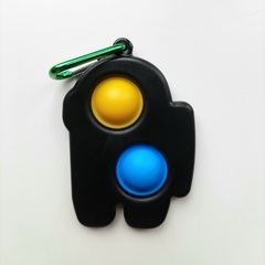 Пупырка вечная антистресс simple dimple (симпл димпл) брелок амонг ас 1шт