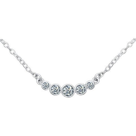 94070045 - Колье из серебра с фианитами «Зимняя вишня»