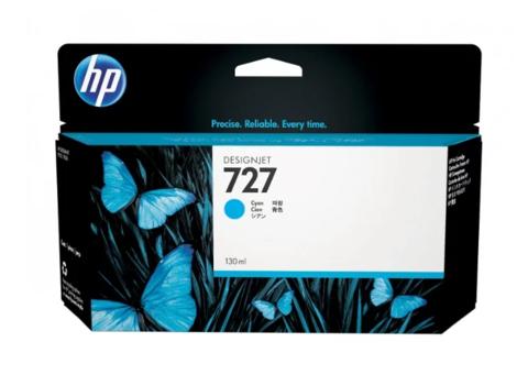 Оригинальный картридж струйный HP B3P19A (№727) голубой