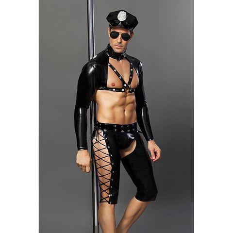 Мужской костюм под кожу Полицейский Josh