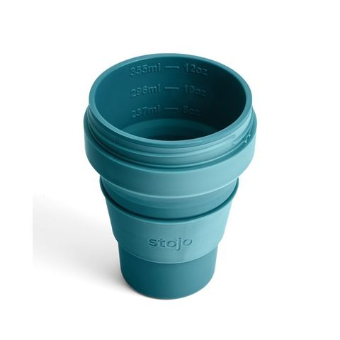 Стакан складной силиконовый Stojo Pocket Cup Lagoon, 12 oz / 355 мл