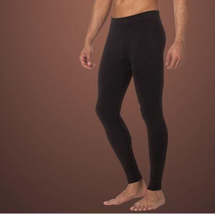 Мужские кальсоны черные из хлопка, шерсти и бамбукового волокна SCALDARE Nero