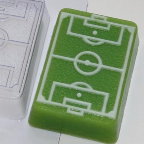 Пластиковая форма для шоколада дет. ФУТБОЛЬНОЕ ПОЛЕ (90х60мм)