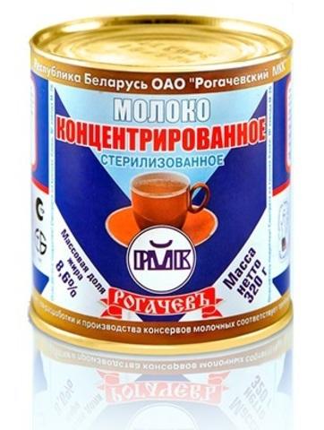 Молоко концентрированное 8,6% 300г. ж/б Рогачёв