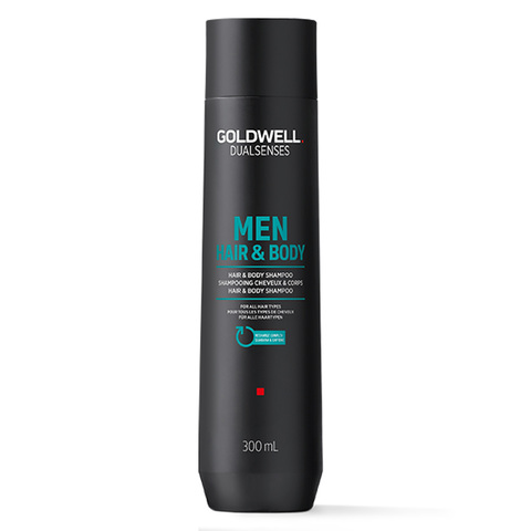 Шампунь освежающий для волос и тела Goldwell DualSenses For Men Hair & Body Shampoo, 300 мл