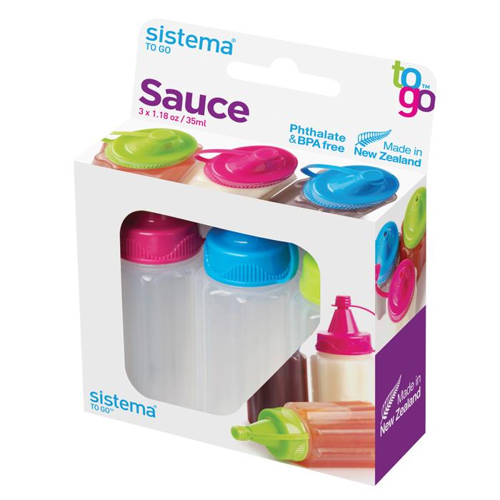 """Набор емкостей для соуса Sistema """"TO GO"""" 35 мл, 3шт."""