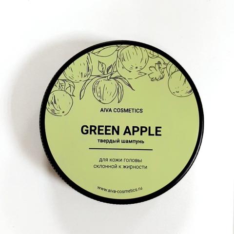 AIVA GREEN APPLE\твердый шампунь\упаковка стандарт, 50 гр