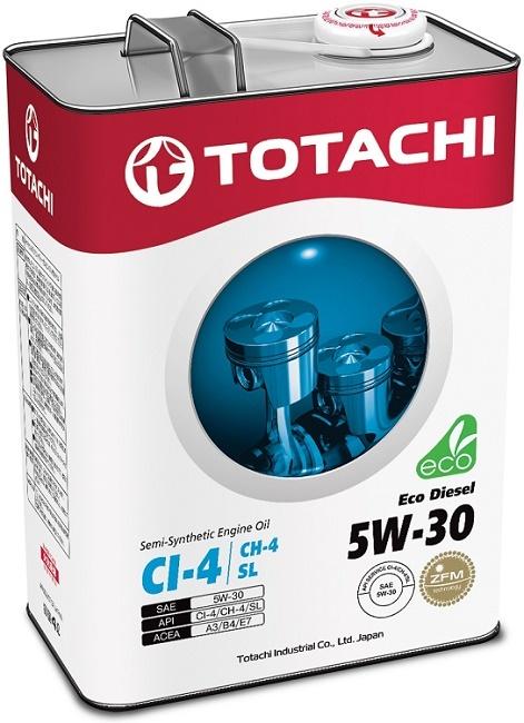Eco Diesel 5W-30 TOTACHI масло дизельное моторное полусинтетическое (4 Литра)