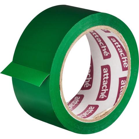 Скотч клейкая лента упаковочная Attache зеленая 48 мм x 66 м толщина 45 мкм