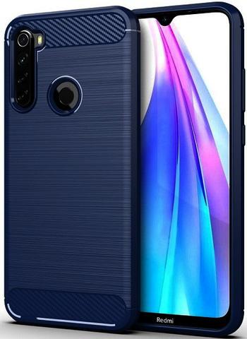 Carbon / Чехол для Xiaomi Redmi Note 8T серия Карбон | синий