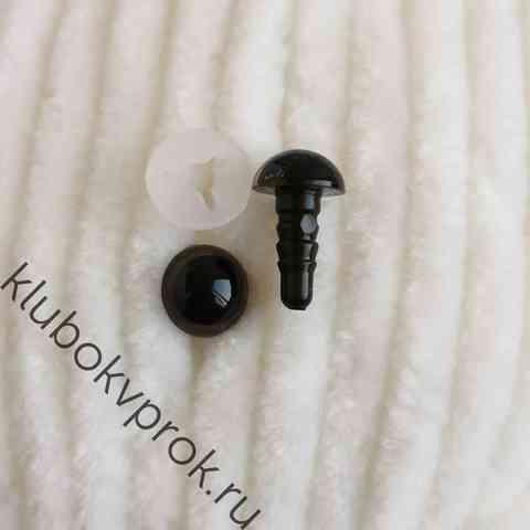 Глаза пластиковые с фиксатором 8 мм, 1 пара, коричневые