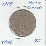 V1012 1978 Чили 10 песо