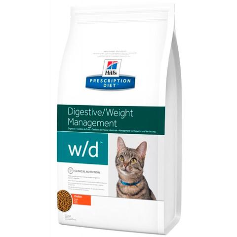 Корм для кошек Hill's Prescription Diet w/d Digestive Weight Management при поддержании веса и сахарном диабете, с курицей 1.5 кг