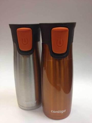 Термокружки Contigo (2 шт.) оранжевая/металлик