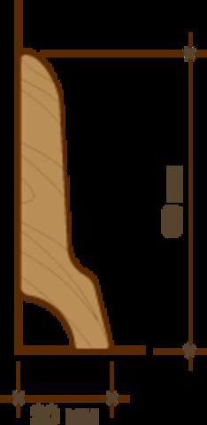 Плинтус Amigo бамбук «Кофе» + клипсы