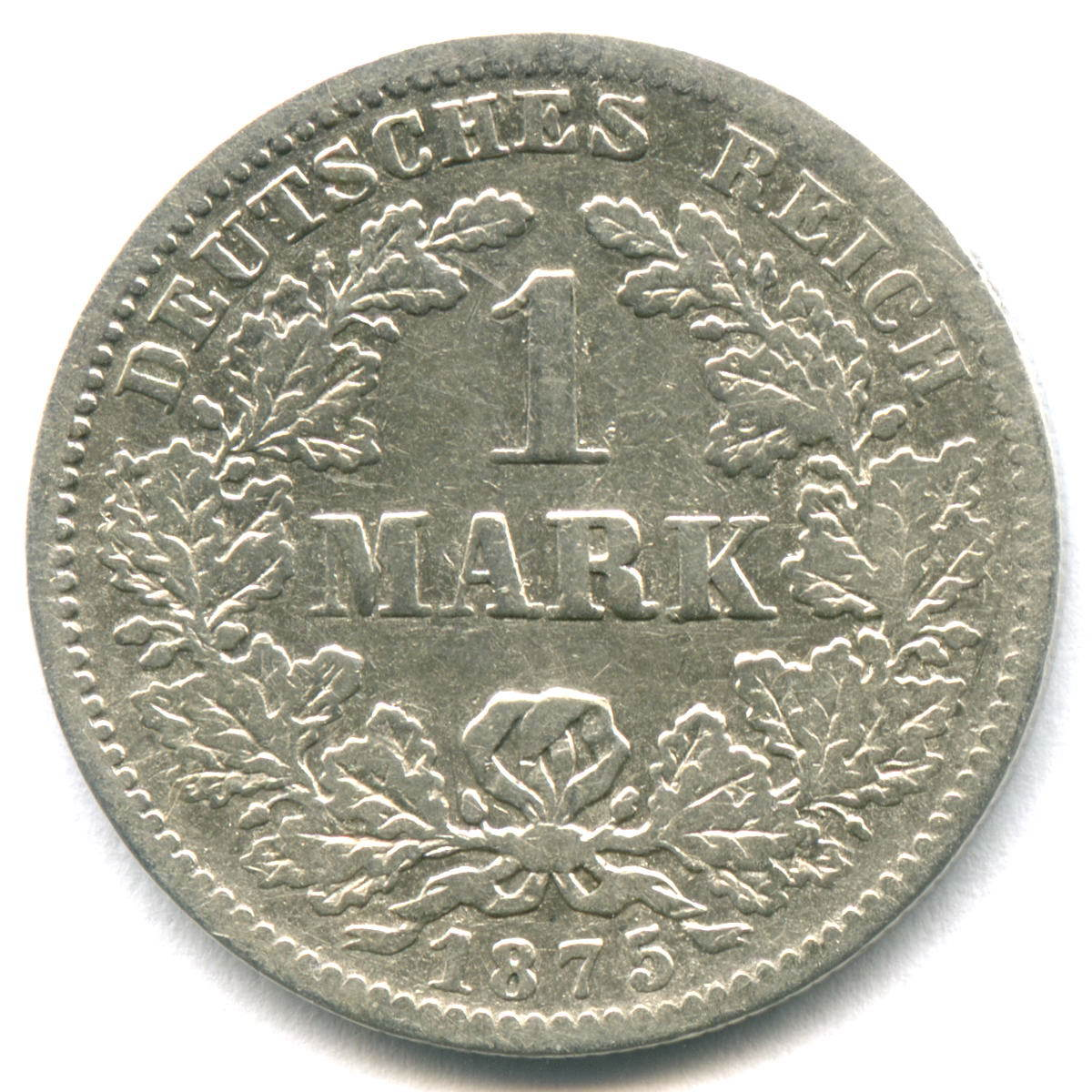 1 марка 1875 (G) Германия F-VF