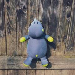 Подушка-игрушка антистресс Gekoko «Бегемот Няша», желтый 3