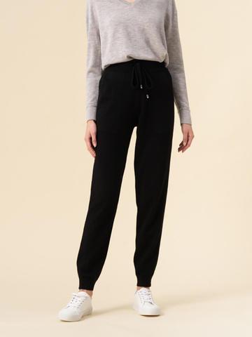 Женские брюки черного цвета из 100% кашемира - фото 4