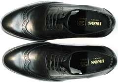 Туфли под классические брюки мужские Ikos 1157-1 Classic Black.