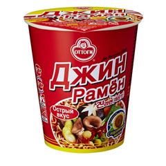 Лапша быстрого приготовления Ottogi Джин Рамен острый вкус 65 гр