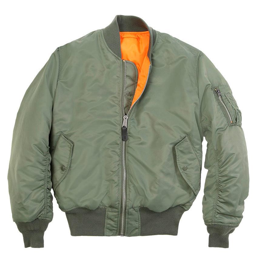 Куртка Бомбер - MA-1 Alpha (олива - s.green)