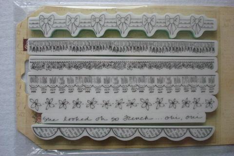 Набор резиновых штампов «Бордюр» 18,5 см